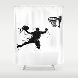 Slam dunk Basketballer Shower Curtain