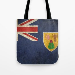 Old and Worn Distressed Vintage Flag of Turks and Caicos Tote Bag