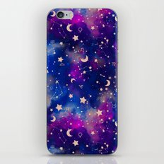 Zodiac - Watercolor Dark iPhone Skin