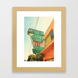 motel sign Framed Art Print