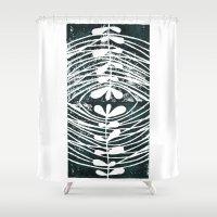 mirror Shower Curtains featuring mirror by Valeria Kondor
