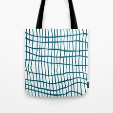 Net Blue on White Tote Bag