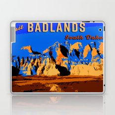 Visit Badlands Retro Postcard Laptop & iPad Skin