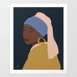 The Girl With A Bamboo Earring Art Print
