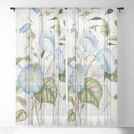 Morning Glories Sheer Curtain
