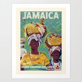 Vintage travel poster-Trans-Canada Air lines-Jamaica. Art Print