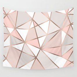 Rose Gold Perseverance Wall Tapestry