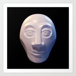 Alien-human hybrid head Art Print