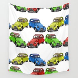 2CV pattern new Wall Tapestry