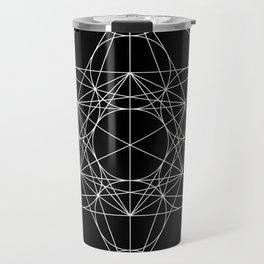Metatron's Cube Black & White Travel Mug