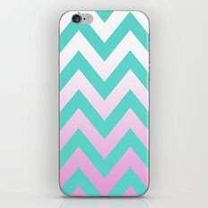 TEAL CHEVRON PINK FADE iPhone & iPod Skin