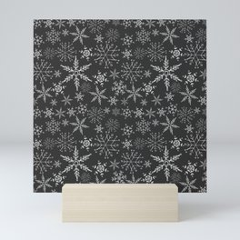 Black Snowflakes Mini Art Print