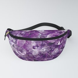 Purple Amethyst Geode Photo Print // Kiss the Violets Fanny Pack