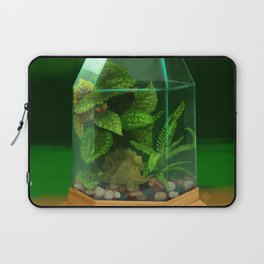 Tiny Dinosaur Terrarium with Stegosaurus Laptop Sleeve