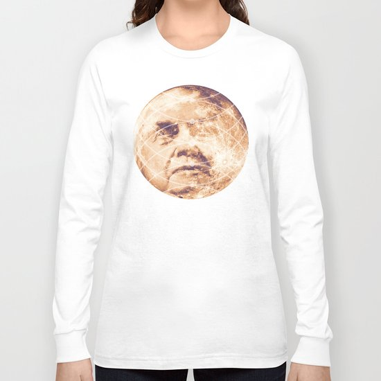 Man in the Moon Phases Long Sleeve T-shirt