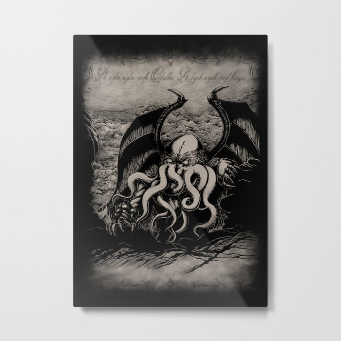 The Rise of Great Cthulhu Metal Print