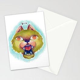 Green dog Stationery Cards