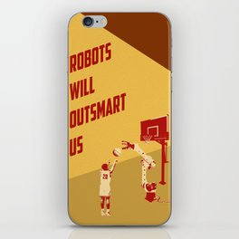 Robots will outsmart us iPhone Skin