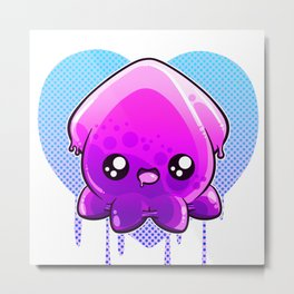 Jelly Squid  Metal Print