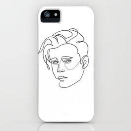 Justin - single line art iPhone Case