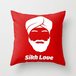 Sikh Love Throw Pillow