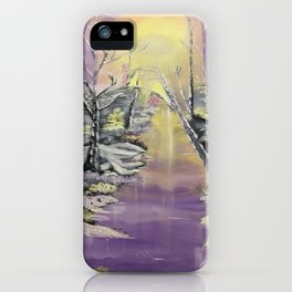 Warm winter beauty iPhone Case