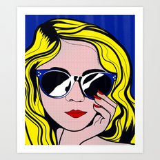 Pop Art Glamour Girl Art Print