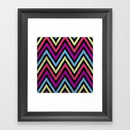 Native Neon Stripes Framed Art Print