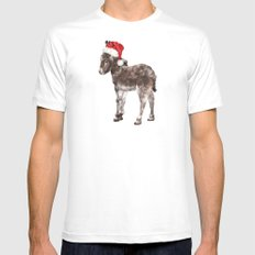 Christmas Baby Donkey MEDIUM White Mens Fitted Tee