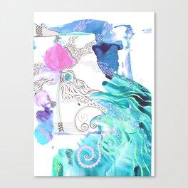 Peacock Flow Canvas Print