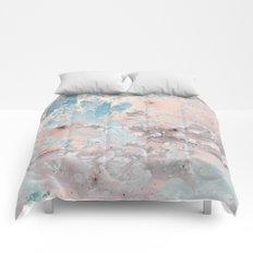 Pastel marble texture Comforters