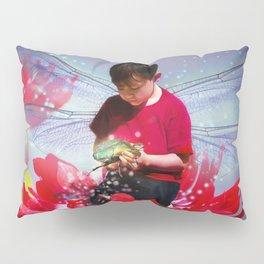 Red Bug Fairy Pillow Sham