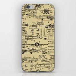 F-18 Blueprints // Tan iPhone Skin