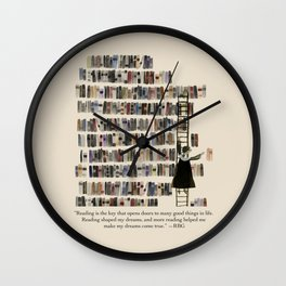 RBG in Her Library Wall Clock