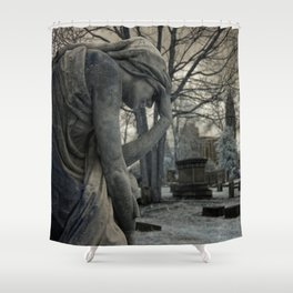 Anguish IR Shower Curtain