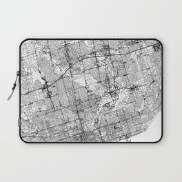 Toronto White Map Laptop Sleeve
