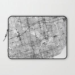 Toronto White Map Laptop Sleeve