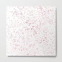 Elegant Luxury Sparkling Rose Gold Confetti Dots Image Metal Print
