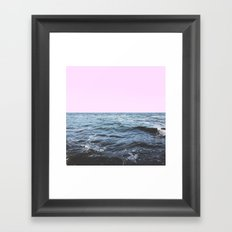 Sea + Pink Framed Art Print