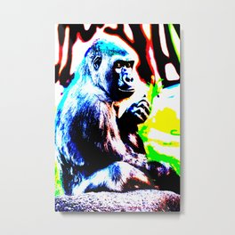 Abstract Gorilla 1 Metal Print