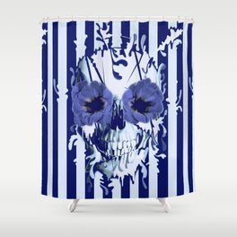 Limbo in navy color palette Shower Curtain