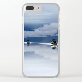 Traveling through the sky Clear iPhone Case
