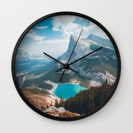 Mount Rundle East End of Rundle EEOR mountains Canmore Alberta Canadian Rockies Canada Wall Clock