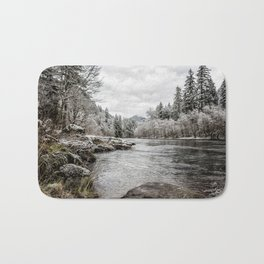 Wintry River Bath Mat