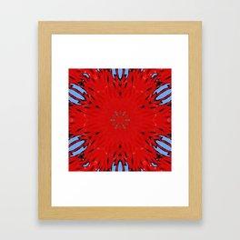 Fire Water Kaleidscope Framed Art Print