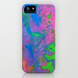 Marbling, Tie Dye Effect Abstract Pattern iPhone Case