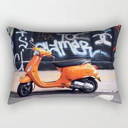 Orange Scooter Rectangular Pillow