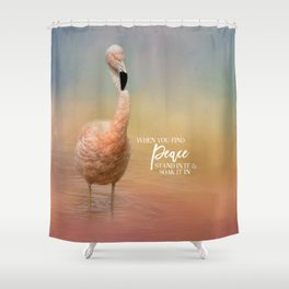 Finding Peace Shower Curtain