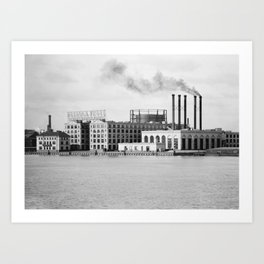 Detroit rubber Art Print