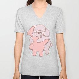 Poodle Hugs Unisex V-Neck